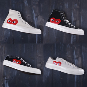 New 1970s Canvas Skate Shoes Classic 1970 Canvas Shoes Jointly Name Play Big Eyes heart skateboard Casual Sneakers running shoes