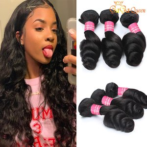 Gagaqueen 8A Brazilian loose wave Virgin Hair 3 Bundles loose wave Human Hair Extensions Peruvian Malaysian Indian Virgin Hair Loose Wave