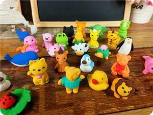 Pencil Erasers Removable Assembly Animal Erasers for Party Favors Fun Games Kids Puzzle Toys