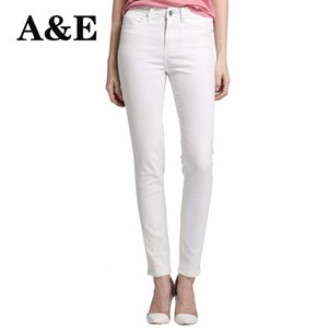 Wholesale Alice Elmer Skinny Jeans Woman Jeans For Girls Women High Waist Stretch Female Pants Shortened White