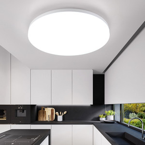 Nordic Modern Designer Round White LED Ceiling Light Fixtures Lamp for Living Room Loft Decor Kitchen Dining Room Bedroom