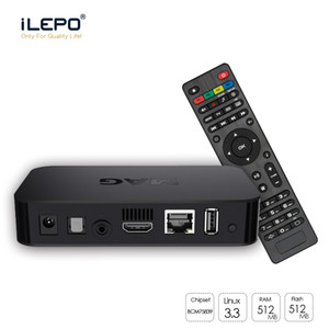 Wholesale top h for sale - Group buy MAG w1 with Linux OS Set Top Box Built In WiFi WLAN HEVC H Smart TV Media Player