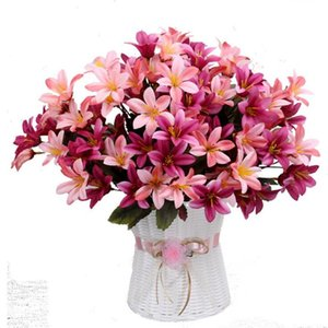 Wholesale narcissus flowers for sale - Group buy Fake Autumn Lily Bunch stems piece Simulation Mini Narcissus for Wedding Home Showcase Decorative Artificial Flowers