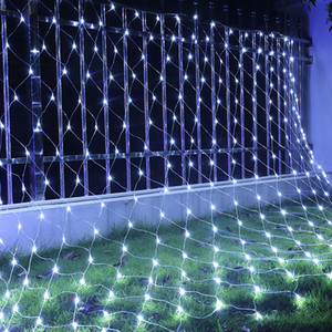 Wholesale LED M M LEDs Web Net Light Fairy Christmas Home Garden Light Curtain Net Lights Net Lamps V V Super Bright String Light