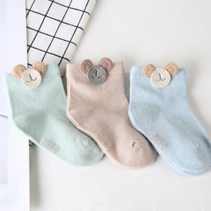 Wholesale 3 pairs lot Unisex Newborn Baby Socks Cotton Warm and Soft Winter Kids Socks Multicolor Anti Slip Socks for Baby