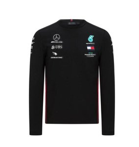 F1 Formula One racing long-sleeved T-shirt team suit 2020 Mercedes-Benz W11 racing suit casual round neck polyester quick-drying
