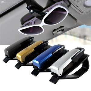 Wholesale colors S shaped Sunglasses Eyeglasses frames Car Auto Sun Visor Glasses Sunglasses Card Ticket Holder Pen Clip