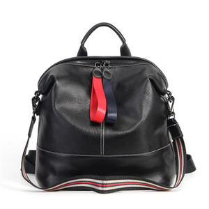 Wholesale Nesitu High Quality New Fashion Black Genuine Leather Women Backpack for ipad Female Girl Lady Travel Bag Shoulder Bags M1016