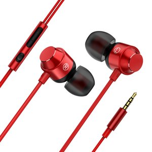 Wholesale Volume Control Wired Headphones Magnetic Wired Control Running Sport Earphones Noise Cancelling Headsets In Ear HIFI Earbuds With Microphone