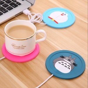 Wholesale USB Cup Pad Warmer Heater Cartoon Silicone Heater for Milk Tea Coffee Mug Hot Drinks Beverage Cup Mat Pad