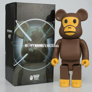 400% Bearbrick Kaws Orangutan Gloomy BB PVC Action Figure Collectible Model Toy 28CM BOX 7 Style Order on Sale