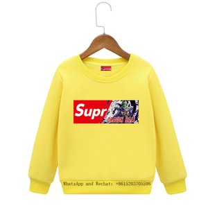 Wholesale 2019 Spring New Product Children s Clothes Male Girl Fashion Letter Printing Sweater Children Colors Cartoon Boys Hoodie Baby Clothing