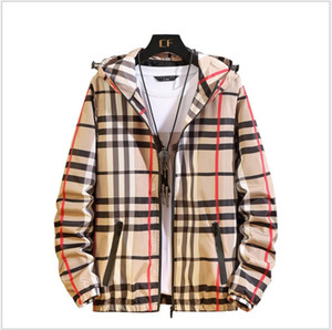 New Hot Sale Plus Size Men Brand Clothes Big Boys Plaid Jackets Men's Zipper Hooded Jacket Spring Autumn Mens Casual Coats Outwear on Sale