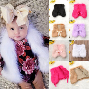 Designer baby Waistcoat Faur Fur Vest Warm Vests Sleeveless Coat Kids Girl Waistcoat Children Outwear Winter Baby Clothes 6 Colors DHW1905