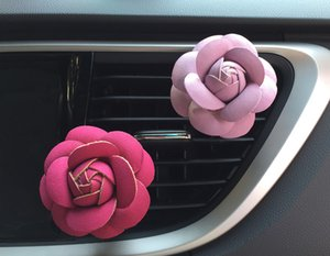 Rose Car Air Humidifier Essential Oils Diffusers Vehicle Air Purifier Car Vents Clip Perfume Decoration Accessories Auto Aroma Car Fragrance on Sale