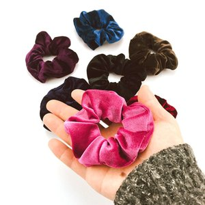 Wholesale 36color Velvet Scrunchie Elastic Hair Rubber Bands Accessories Gum Tie Hair Ring Rope Ponytail Holder Headdress MMA2537