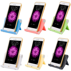 Wholesale Universal Pocket Sized Colorful Portable Foldable Mobile Phone Holder Desktop Stand Mount Holder Cradle for iPads Tablets E Readers Cellphon