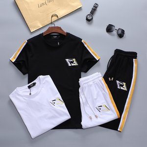 Designer Men's tracksuits male 2020 men's clothing set of summer fitness sports clothing Embroidery shorts t shirt male suit 2 pieces sets