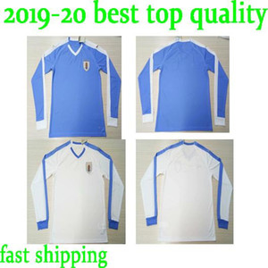 Wholesale 2019 Uruguay Long sleeve Soccer Jersey Home L suarez E cavani Soccer Shirt D GODIN Away National Team Football Uniforms