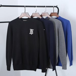 Wholesale 19FW new luxurious brand design Burb Letter embroidery round neck sweater Men Women Breathable Fashion outdoor