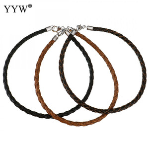 Wholesale Cowhide Leather Cord Sterling Silver Lobster Clasp Braided Bracelet mm Sold Per Approx Inch Strand