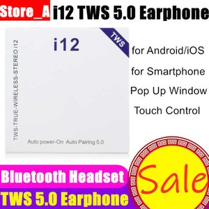 Wholesale i12 TWS Earphone Touch Wireless Earbuds Bluetooth Headphones Ture Stereo Wireless Headset Earbuds Pop Up Window New Arrival