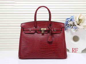 Wholesale designer handbags 30cm 35cm Crocodile pattern women designer bags fashion tote purse bag women designer handbags