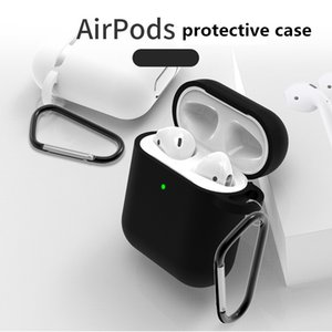 Mini Soft Silicone Case For Apple Airpods Shockproof Cover For Apple AirPods Earphone Cases Ultra Thin Air Pods Protector Case DHL