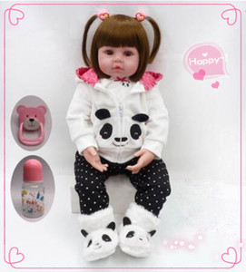Wholesale silicone newborn baby dolls resale online - Babies reborn doll cm newborn girl doll soft silicone baby rebirth doll toy children Christmas holiday toys Kids