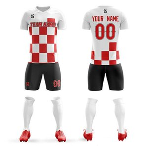 Wholesale custom football jerseys college New high quality summer short sleeve soccer jersey clothing printing sports products football c on Sale