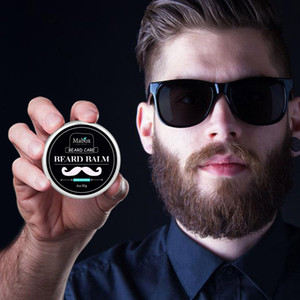 Wholesale High Quality Mabox Natural Beard Conditioner Beard Balm For Gentlemen 60g Natural Organic Moustache Wax For Whiskers Smooth Styling