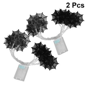 Wholesale String Lights Spider Web Shape String Lights m LEDs Iron Art Halloween Decoration Lamp For Halloween Party Supplies