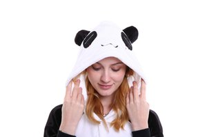 Cute panda kigurumi for adults animal onesies unisex pajamas flannel costume animal pajamas cosplay girls oneises