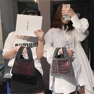 Wholesale Bling Bling woman designer luxury bags Thank You Sequins Bags mini Tote Bags Crystal Fashion Lady Bucket Handbag Vest Girl Glitter Purse hot