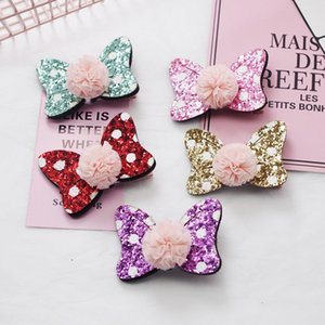 Wholesale Cute Baby Girls Hair Accessories Sequins Heart Butterfly Barrettes Glitter Stars Clip Pin Kids Children Hairpin