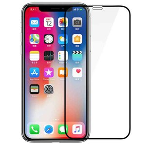 Wholesale For iPhone Pro Max XS Max Full Cover Tempered Glass Bubble Free HD Clear Screen Protector for iPhone XR X S Plus No Retail Pack