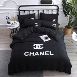 Wholesale Explosive models simple wash four piece suit Fashion big name queen Bed Comforters Sets designer bedding sets Quilt cover pieces suit