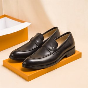 Wholesale Hot Saint Germain Loafer Men Luxury Designer Loafer Evening Shoes Wedding Dress Shoes A32VW Black Brown Leather