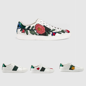 Wholesale Designer shoes Mix models White Brand Casual shoes with embroidered flower bee tiger size men women fashion shoes low top Party