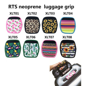 Wholesale 8 Styles Neoprene suitcase handbag Cover RTS Neoprene luggage girp Wedding Party Favor gift Factory LX2212