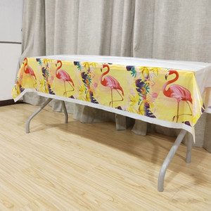 1p set Flamingo Tablecloth Birthday Party Decorations Favors Tablecovers Baby Shower Wedding Tableware Flamingo Party Supplies