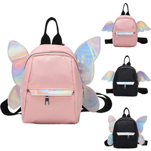 Wholesale New Girls Little Butterfly Angel Wings Laser Satchel New Design Travel Bling Laser Backpack Casual Style School Shoulder Bag Cute Gift