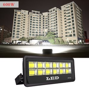 Outdoor LED Flood Light Fixture 600W 500W 400W 300W IP66 Waterproof Exterieur COB Floodlight 90 Degree Beam Angle Spotlight