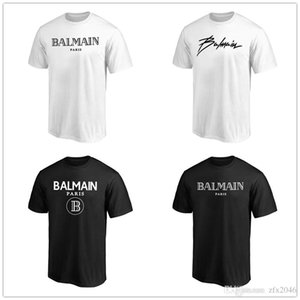 Wholesale 2019 New style B almain Mens Designer T Shirts Black White Fashion Hoodies Short Sleeve Brand Clothing Fans Tops Tees shirts printed Logos