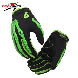 Wholesale green red hand motorcycle gloves winter warm Bone style universal pro bicycle Protective Gears out sports glove