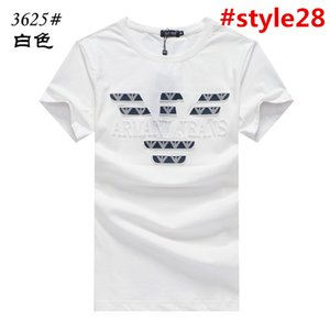 2019 mens brand T-Shirts British College Men's Short Sleeve T-Shirt Men's Round Neck Casual Summer New Slim Silk Cotton Korean Short t Male