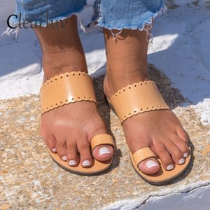 Wholesale Women s Slippers Summer New Street Dating Shopping Flat Sandals Bohemian Non slip Slippers Fashion Wild Gladiator Shoes