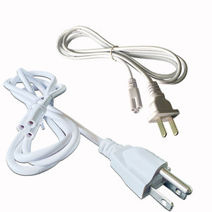 Wholesale T5 T8 connecting wire Power cords with standard US plug for T5 T8 integrated led tubes Prong cm cm Cable
