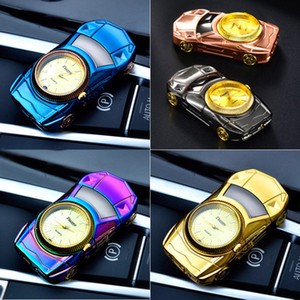 creative design 2 in 1 super car model lighter Electric USB Rechargeable cigarette watch Lighter Windproof coil heater gold black blue pink