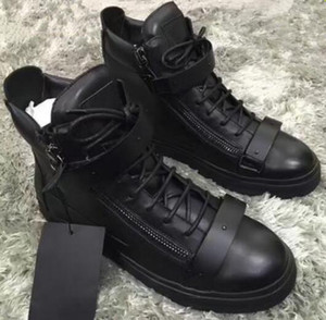 Wholesale italian brand designer men shoes Genuine Leather women platform sneakers zapatos mujer scarpa chaussure High top sneakers big size